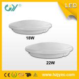 Éclairage approuvé de plafond du détecteur DEL de RoHS 3000k 22W 0.9PF de la CE