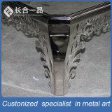 Europa-moderner Entwurfs-Silber Staniless Stahlvierecks-Tisch-Ausgangsmöbel