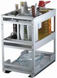 Gabinete de cozinha de vidro popular da mobília modular da HOME da porta