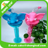 Garrafa de água bebendo plástica personalizada do elefante projeto fresco