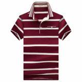 2017枚の人の縞のポロシャツの綿の悪感情のポロシャツ