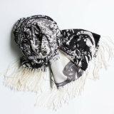 Châle d'étole estampé par laines Worsted de 100% (AHY300014445)