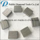 O diamante de pedra abrasivo das ferramentas de estaca viu o segmento da estaca da lâmina