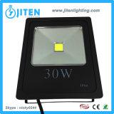 Luz ao ar livre solar/iluminação do diodo emissor de luz do projector IP65 da luz 30W da lâmpada de inundação do diodo emissor de luz