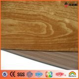 1220 * 2440mm ASTM Standard PE / PVDF Painel composto de alumínio de acabamento de madeira
