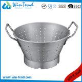 Colador del dren del cocinero de la cocina con la base y la maneta clavada dos