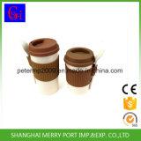 シリコーンのふたおよびシリコーンの袖が付いているカスタムパッキングプラントファイバーのティーカップ