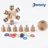 Brass Spinner EDC Fidget Toy com Caps