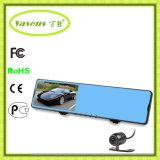 Espejo 2016 de coche granangular de la pulgada 1080P del Ce H2 4.3 DVR, registrador WiFi de la cámara del coche del espejo