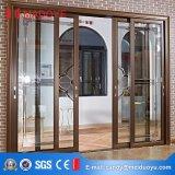 Portello scorrevole orizzontale di vetro di profilo di alluminio durevole