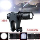 2000lm tocha tática de alumínio da lanterna elétrica do diodo emissor de luz Zoomable da modalidade SOS 14500 AA do CREE T6 5
