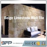 Azulejos amarillentos populares de la pared/de suelo de la piedra caliza con la superficie martillada Bush