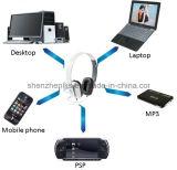 Наушники компьютера фабрики связанные проволокой оптовой продажей стерео для вспомогательного оборудования мобильного телефона