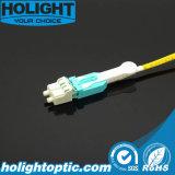 Uniboot LC au jaune recto uni-mode optique de Patchcord de fibre de LC