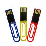 Movimentação plástica da pena do USB do mini grampo impermeável da vara do USB