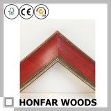 Roter rustikaler hölzerner Foto-Rahmen für Galerie oder Hotel