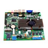 De dubbele Motherboard van Celeron 1037u MiniItx gelijkstroom van de Kern 12V Motherboard van TV Steun van de Prijs WiFi of 3G
