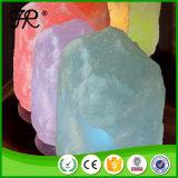 Lampada Himalayan dentellare naturale del sale intagliata mano con il USB