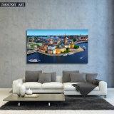 HD Print City Downtown View Toile imprimée Peinture à l'huile