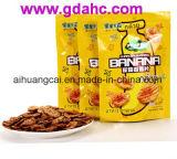 Unterer flacher Fastfood- Plastiknahrungsmittelbeutel