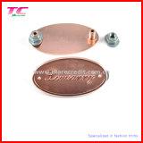 Qualitäts-kundenspezifische Marken-Firmenzeichen-Metallnamen-Plakette für Möbel