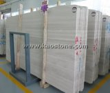 白い木製の大理石木は床タイルのプロジェクトを張りめぐらす