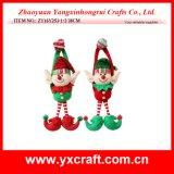 Décoration s'arrêtante de cher d'elfe de Noël de la décoration de Noël (ZY16Y257-1-2 27CM) de choc d'elfe de gaine elfe de Noël