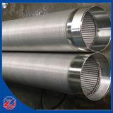 Filtres de filtre pour puits de l'eau d'acier inoxydable avec l'encoche continue