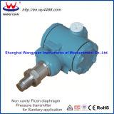 Transmetteur de pression affleurant de membrane de Non-Cavité