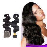Бразильская объемная волна человеческих волос Remy волос
