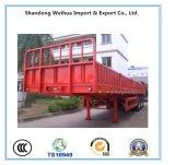 반 40t 삼각형 타이어 또는 Fuwa 3 차축 측벽 베트남을%s 평상형 트레일러 트럭 트레일러