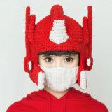 Шлем зимы смешного трансформатора Handmade связанный