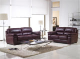 Le sofa de salle de séjour avec le sofa moderne de cuir véritable a placé (894)