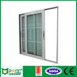 Hochwertiges Aluminium gestaltetes doppeltes glasig-glänzendes schiebendes Fenster mit As2047