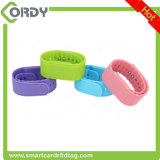13.56MHz Wristband ajustável do silicone RFID com a microplaqueta F08