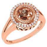 925 de echte Zilveren Diamant Wholesales van Dacning van de Juwelen van Ringen