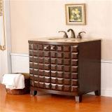 De goedkope Stevige Houten Ijdelheid van de Badkamers van de Vloer Bevindende