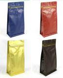 Kundenspezifischer Drucken-Folien-Beutel-Seiten-Stützblech-Aluminiumfolie-Kaffee-Beutel mit Zinn-Gleichheit