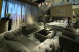 Ledernes Sofa-Bett, Luxuxsofa-Bett, italienischer Entwurf