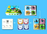 Логос профессионала сразу изготовленный на заказ и образование APP карточка Ar для образования малышей Pre-Главным образом