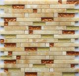 Tuiles de mosaïque en pierre jaunes en verre et de colophane de mélange