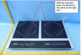 Fresa di vetro di cottura 2014 di induzione elettrica del bruciatore 3600W Schott Ceran del Portable 2 degli apparecchi di cucina