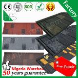 Плитка крыши металла Palte алюминиевого цинка прямой связи с розничной торговлей фабрики каменная Coated в Гуанчжоу и Нигерии