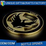 Apri in lega di zinco della bottiglia da birra del metallo di formato su ordinazione con la pittura molle dello smalto
