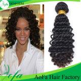 Accessori umani caldi dei capelli del Virgin di vendita in profondità Wave100%