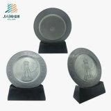 Zubehör-Förderung-Gussteil-kundenspezifisches antikes Silber gedenken Platte