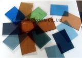 Azul/verde/bronce/fábrica coloreada gris del vidrio de flotador en China