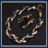 Комплект ювелирных изделий ожерелья серьги способа цепи заедк нового деталя стальной