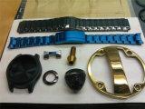 Uhr-Kasten-Goldrosen-Goldblaue metallisierenmaschine