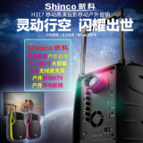 Im Freien aktiver Batterie-Lautsprecher mit LED-Bildschirmanzeige USB-statischer Ableiter FM
